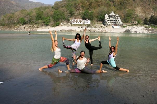 Yoga på stranden!